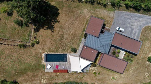 maison dax terrasse bois piscine